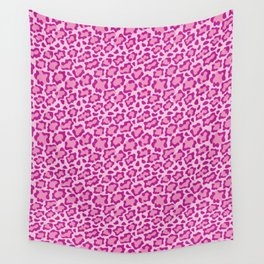 Pink Leopard Wall Tapestry