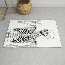 Rock and Roll Skeleton Rug