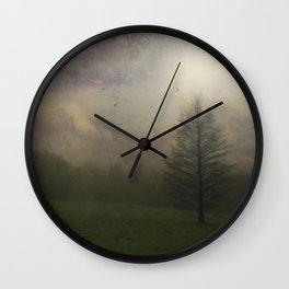 Painted Mist Wall Clock