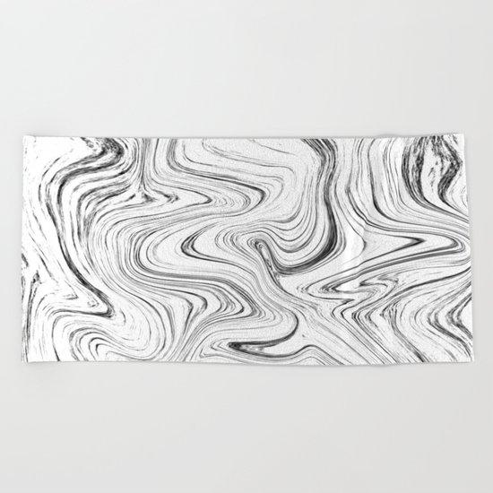 Marble (watecolor) Beach Towel