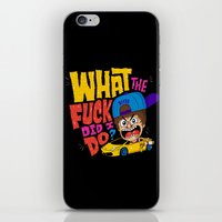drunk iPhone & iPod Skins featuring Drunk Beebz by Chris Piascik