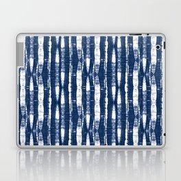 Shibori Stripes Indigo Blue Laptop & iPad Skin