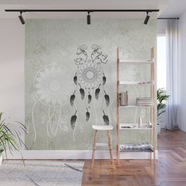 Dreamcatcher in black and white Wall Mural