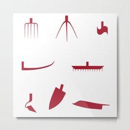 Working tools Metal Print