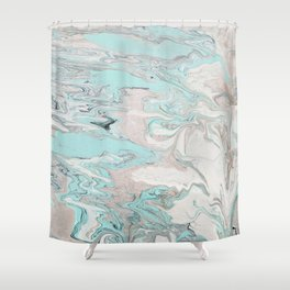 Marble - Mint Shower Curtain
