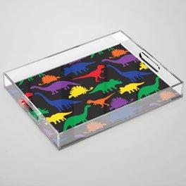 Dinosaurs - Black Acrylic Tray