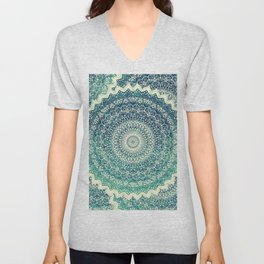 BICOLOR COLD WINTER MANDALA Unisex V-Neck