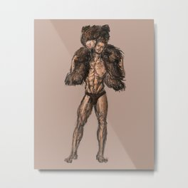 Teddy Bear Guy Metal Print