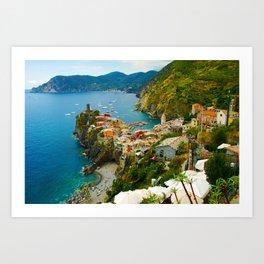 Vernazza Italy - Italian Riviera Art Print