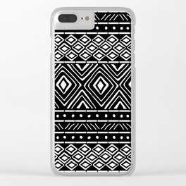 African Mud Cloth // Black Clear iPhone Case