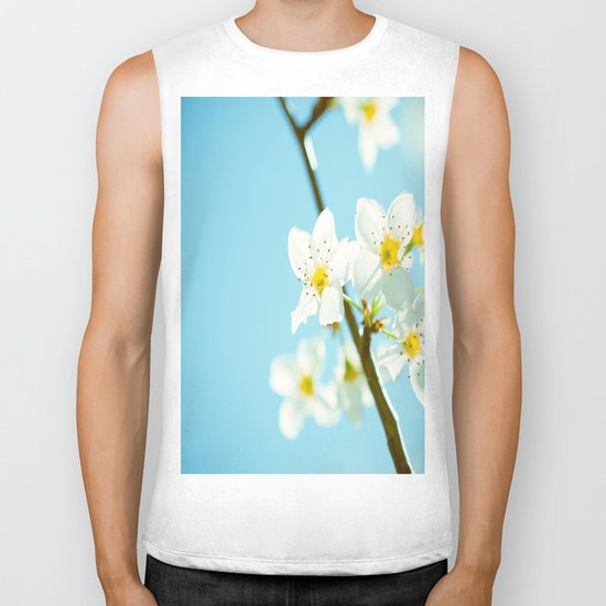 Blue & Blossoms Biker Tank