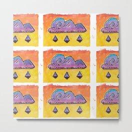 Stormy rain cloud pattern Metal Print