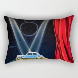 Vintage Automobile Advertising Poster for Matford V8 Une Nouvelle Vedette sur la Scene du Monde Rectangular Pillow