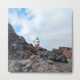 Volcanic Lighthouse Metal Print