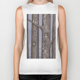 owls in trees Biker Tank
