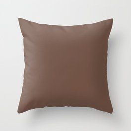 Milk Chocolate Brown Solid  Throw Pillow