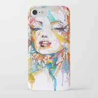 marylin monroe iPhone & iPod Cases featuring Marylin Monroe by Maria Zborovska