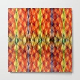 Pattern rhombs orange 2 Metal Print