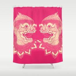 Hanuman Pink Shower Curtain