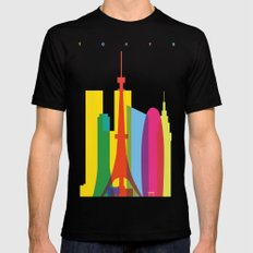Shapes of Tokyo. Accurate to scale. X-LARGE Black Mens Fitted Tee