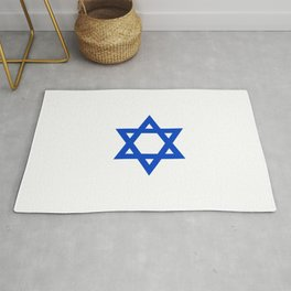 Star of David 4- Jerusalem -יְרוּשָׁלַיִם,israel,hebrew,judaism,jew,david,magen david Rug