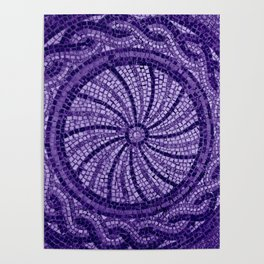 Ultra Violet Stone Tiles 18-3838 Poster