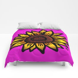 Yellow and Pink Comforters