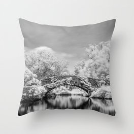Gapstow Bridge, Central Park in Infrared Throw Pillow