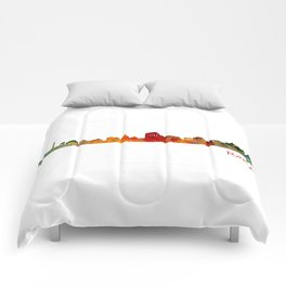 Rome city skyline HQ v01 Comforters