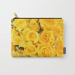 YELLOW ROSES CLUSTERED Carry-All Pouch