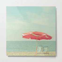 Deserted Beach Metal Print
