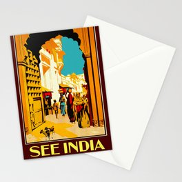 See India - Vintage Travel Stationery Cards