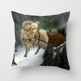 julebukk Throw Pillow