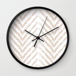 Shibori Sand Chevron Wall Clock