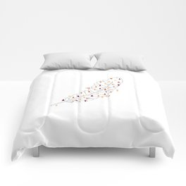 feather. geometric Comforters