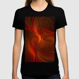Warmth, Abstract Fractal Art T-shirt