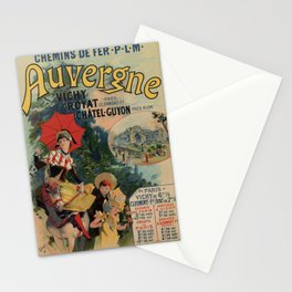Vintage Auvergne French travel advertising Stationery Cards