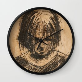 sad girl Wall Clock