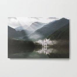 Mountains fog Metal Print