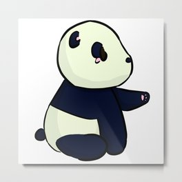 Midnight Panda Metal Print