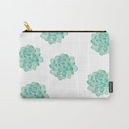 Succulent print Carry-All Pouch