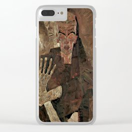 "Egon Schiele ""Self-Seer II (Death and Man)"" Clear iPhone Case"