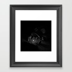 Drawlloween 2016: Skull Framed Art Print