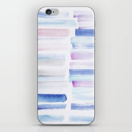1  | 181101 Watercolour Palette Abstract Art | Lines | Stripes | iPhone Skin