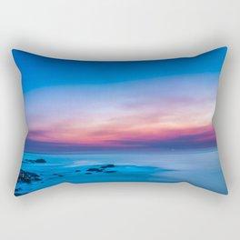 Sunset long exposure over the ocean Rectangular Pillow