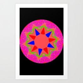 Abstract 5B Star Art Print