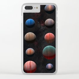 Planets : Hot Jupiter Exoplanets Clear iPhone Case
