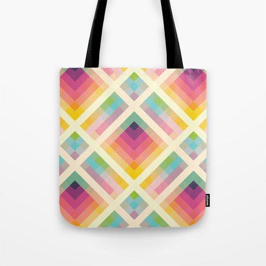 Retro Rainbow Tote Bag