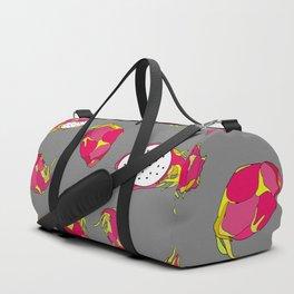 Dragon Fruit on Grey Duffle Bag