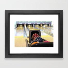 Bowling Pins Framed Art Print
